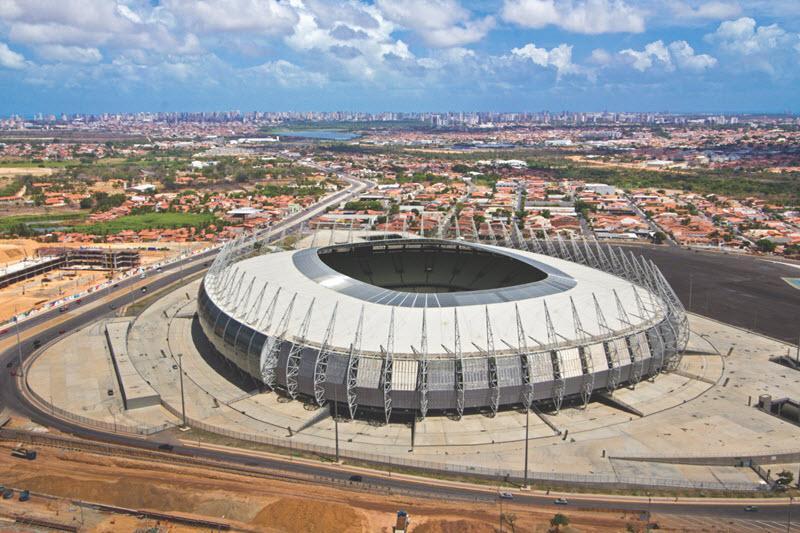"SUNTUF Polycarbonate ""Plácido Castelo"" Stadium Skylights, Brazil"